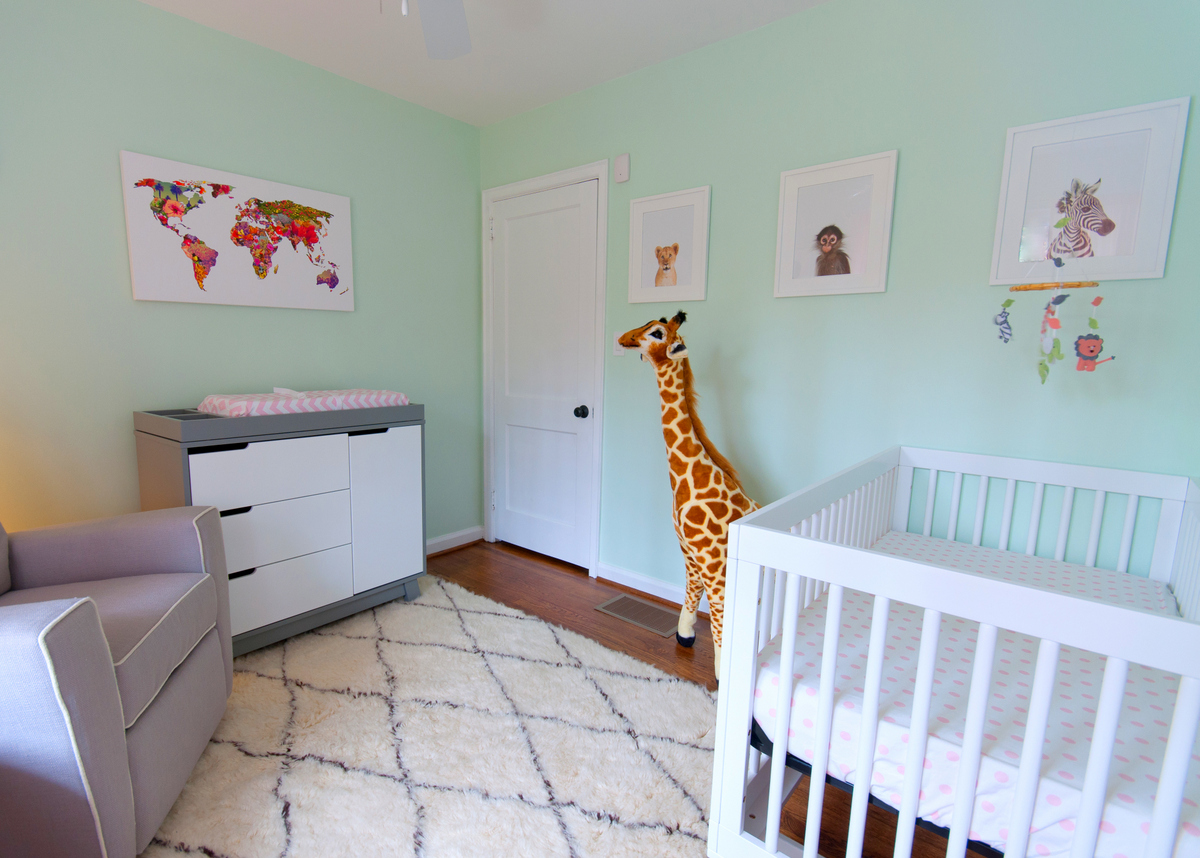 A Mint Green Animal Themed Nursery