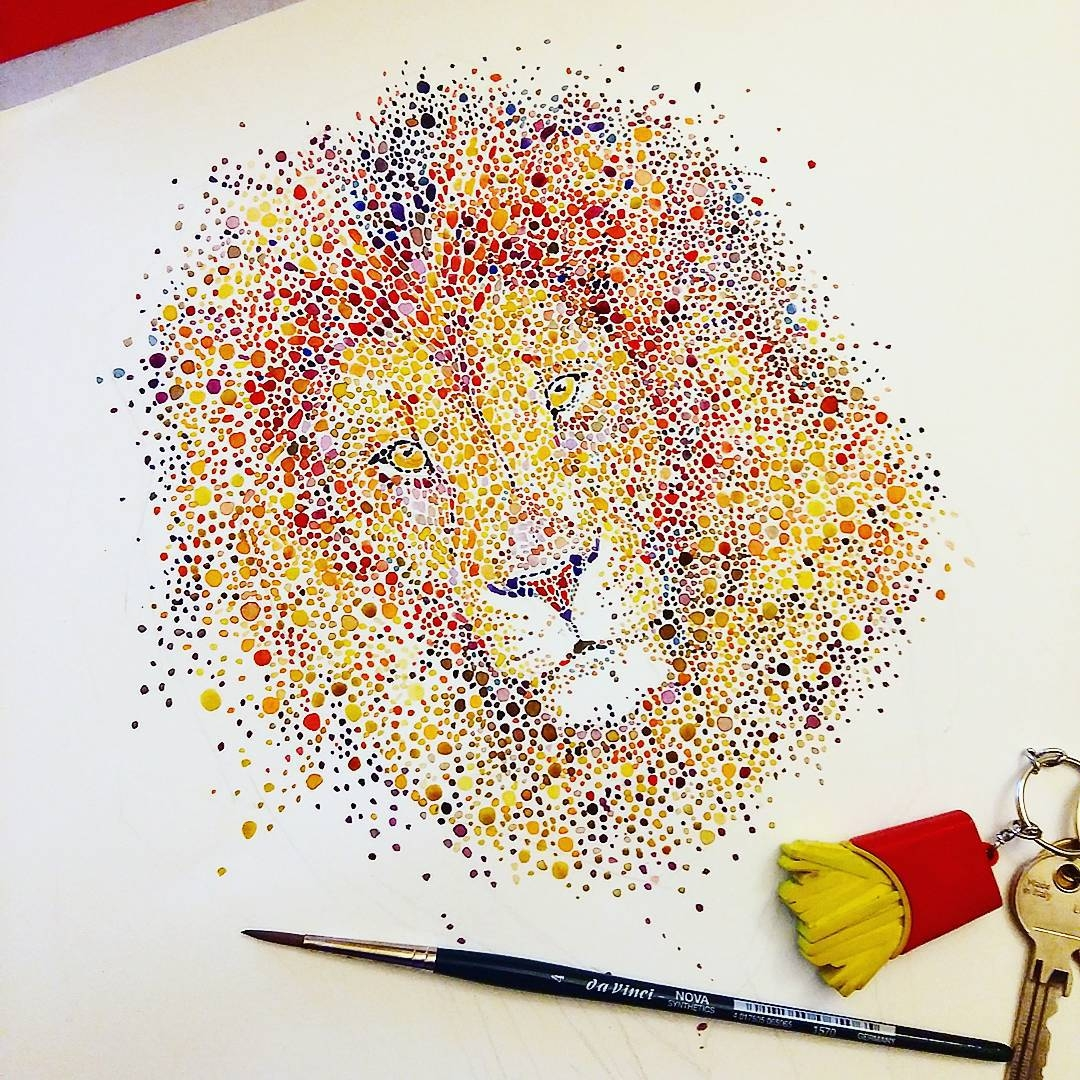 16-Lion-Ana-Enshina-anaensh-Dot-and-Circle-Animal-Paintings-Ishihara-Test-www-designstack-co