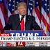 Donald Trump, ya Presidente Electo, llama a los estadounidenses a sumarse como un pueblo unido