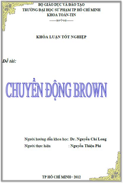 Chuyển động Brown