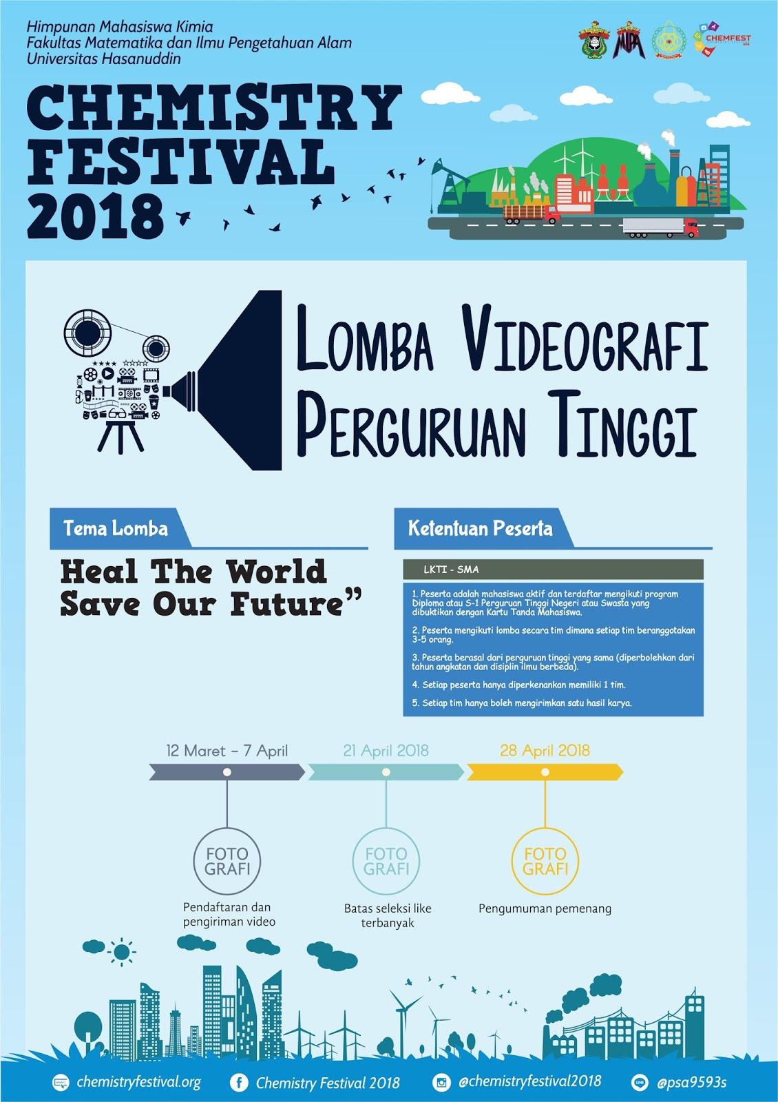 Info - Lomba Videografi CHEMFEST 2018
