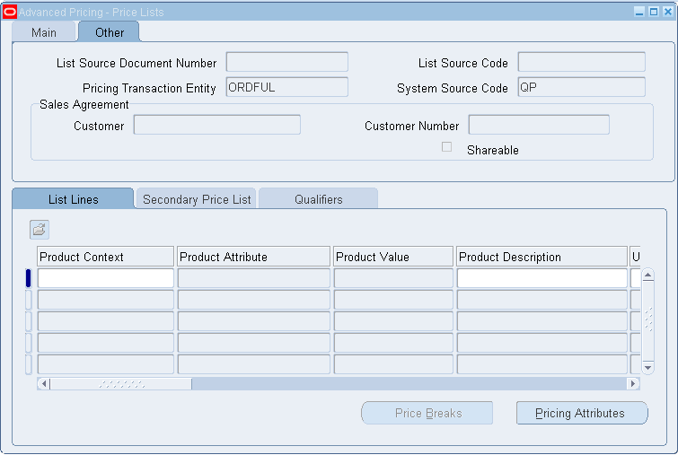 Vipul's Oracle Apps Blog: Price Lists