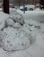 Corner snowmound