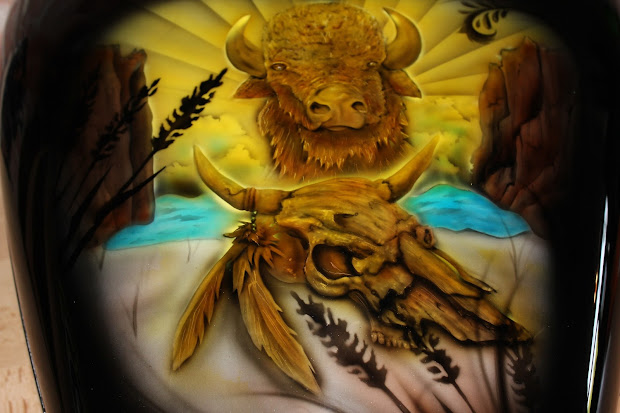Online Motorcycle Paint Buffalo Airbrush Mural