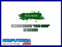 """Cara Mudah Membuat """"Baca Selengkapnya"""" di Blogger"""