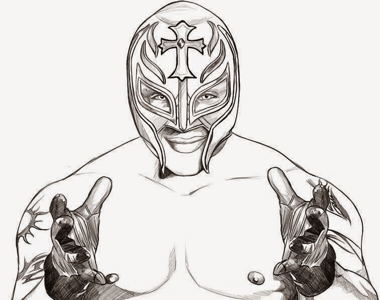 Wwe Sin Cara Coloring Pages