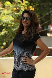 Actress Karuna Pictures in Jeans at Tholi Kiranam Press Meet 0002.JPG