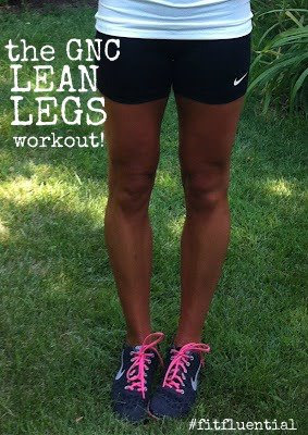 Jess Blonde Ponytail GNC Lean Legs Circuit Tabata Workout Barr & Table