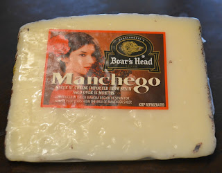 Manchego Cheese for Roasted Garlic Shrimp Tacos with Arugula, Manchego, and Corn, Red Pepper, and Chive Salsa