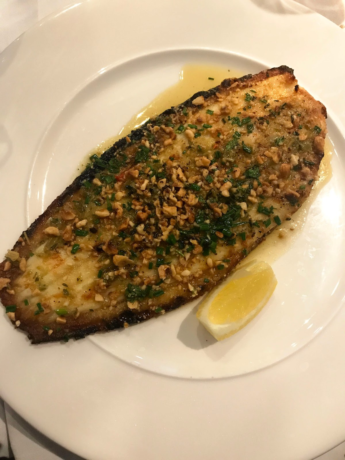 Stitch & Bear - Rachel's Cork - Grilled Dover Sole with gremolata