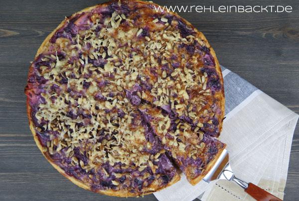 Rotkraut-Quiche mit Apfel | Foodblog rehlein backt