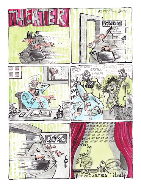Das endlose, tägliche Theater im Büro - eine Comic Geschichte