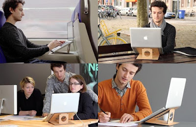 Flio wooden laptop stand