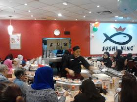Pengalaman Makan Sushi di Sushi King, Giant Kelana Jaya