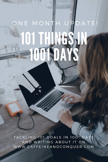 Four Month Update - 101 Things in 1001 Days - Tackling 101 Goals in 1001 Days and Writing About It on www.caffeineandconquer.com