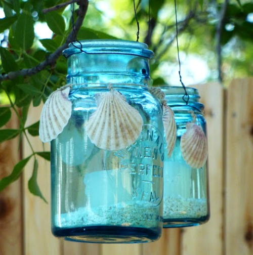 Seashell Decor for Glass Jars