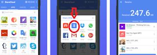 ShareCloud - Cara mengirim aplikasi / game android lewat bluethoot