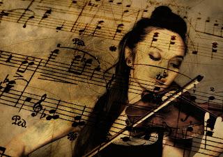 Violinista y partitura