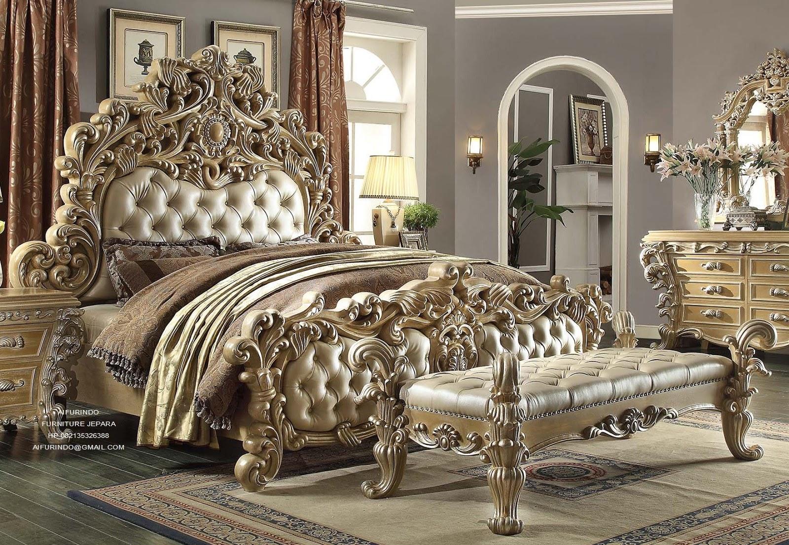 Furniture Klasik Mewah Tempat Tidur Jati Ukir Jepara