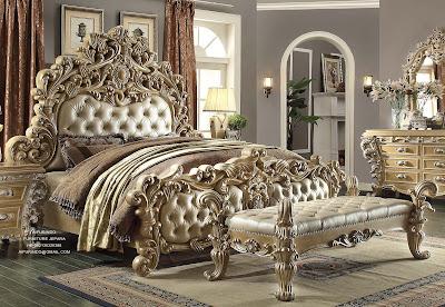 Furniture Klasik Mewah-Tempat tidur jati ukir jepara