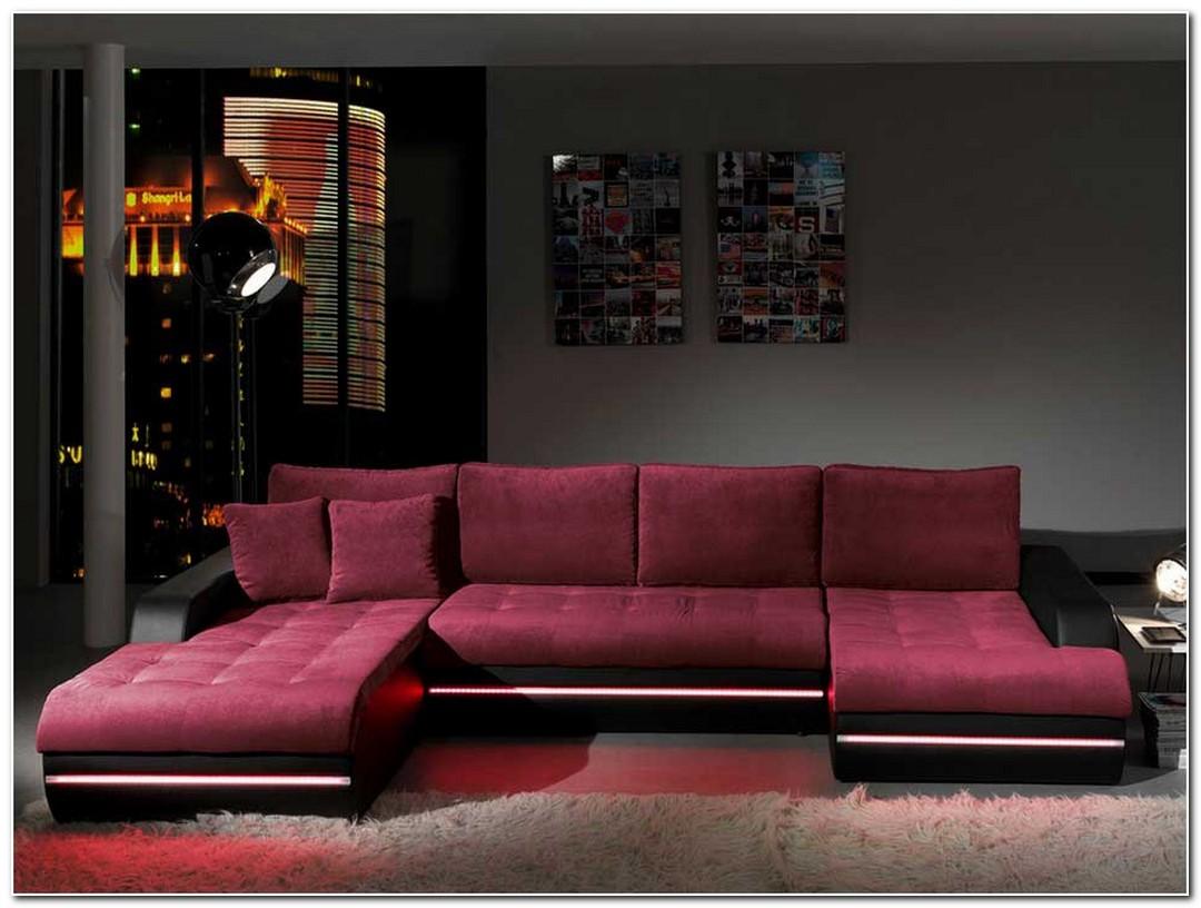 ecksofa mit led lustige ideen f r ihr wohnzimmer renovieren de haus. Black Bedroom Furniture Sets. Home Design Ideas