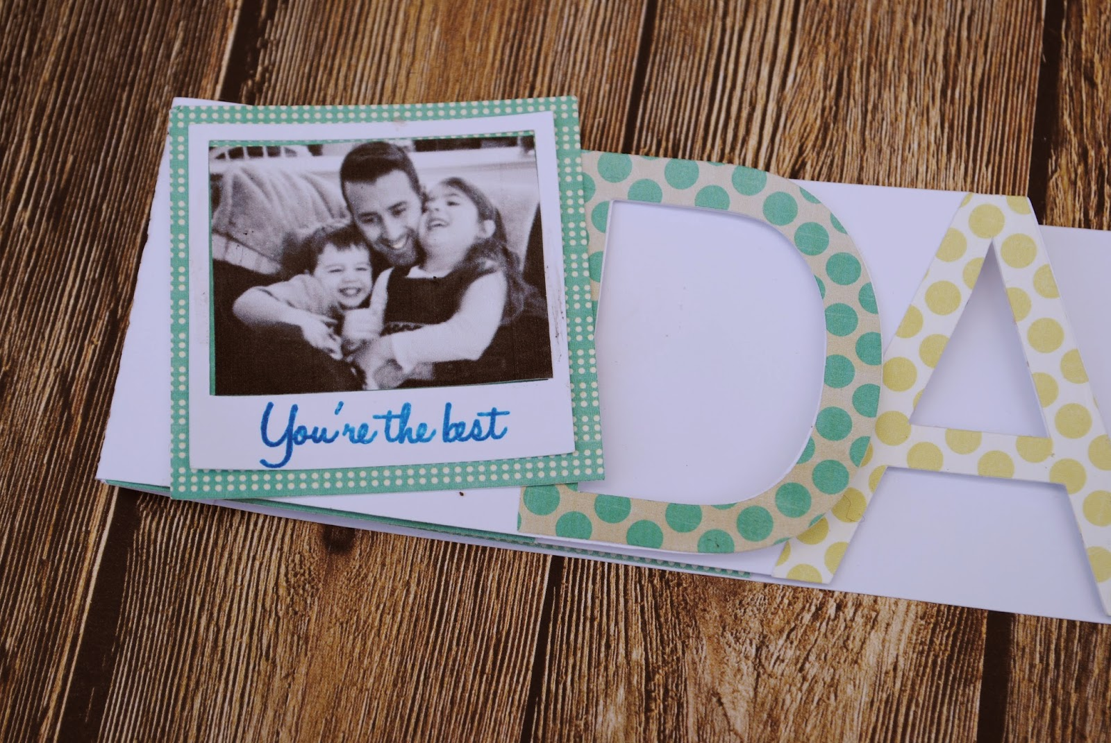 Polaroid, father's day card, free, Silhouette Studio, cut file