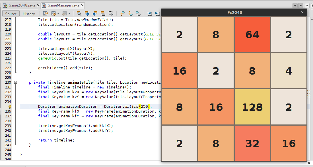JavaFX and Java 8 version of the 2048 game - DZone DevOps