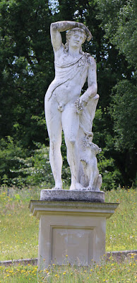 A replica of the statue of Bacchus, Painshill