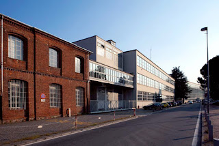 The original red brick factory was retained when Olivetti built new modern premises in Via Jervis in Ivrea
