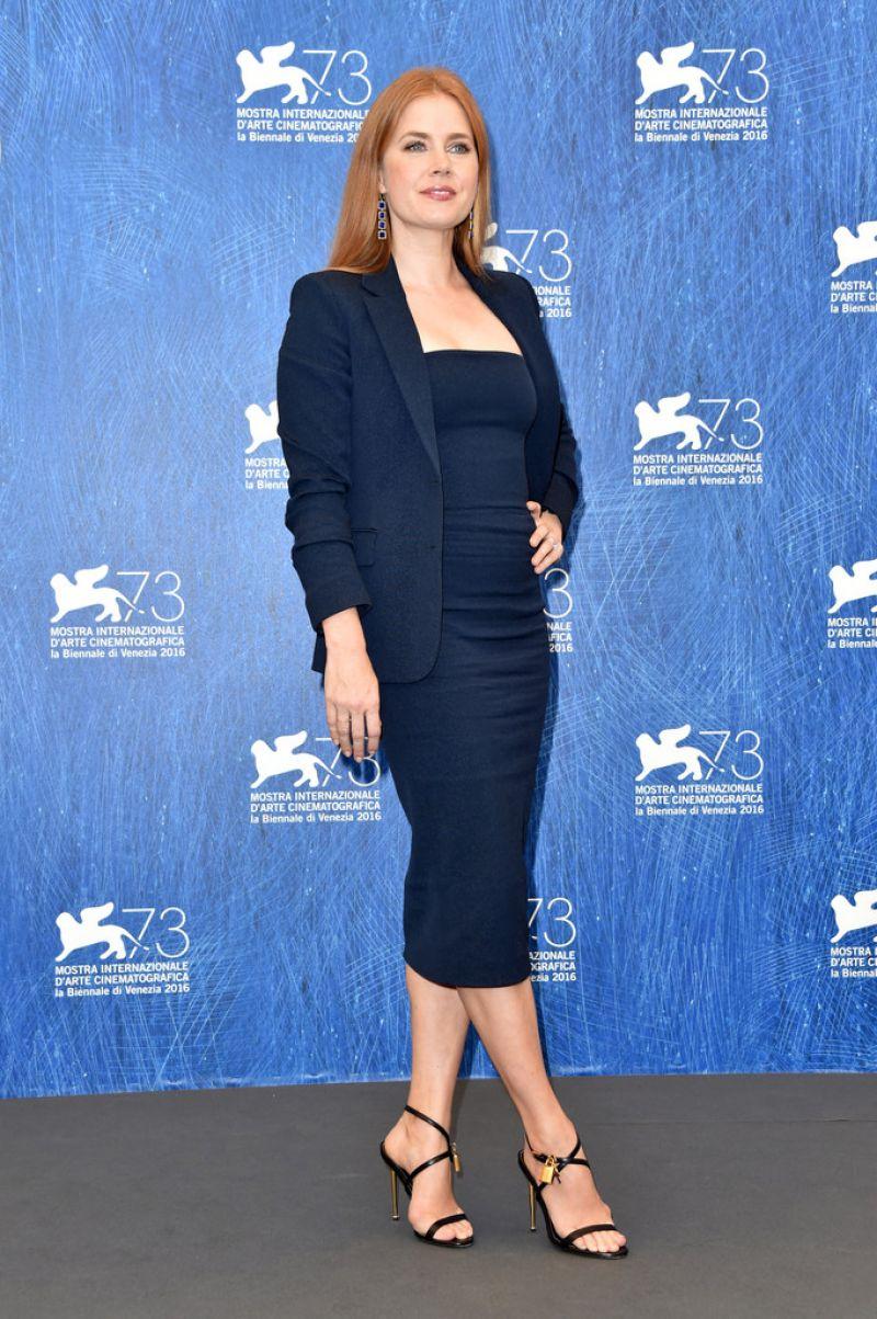Amy Adams At Noctrunal Animals Phoyocall At 73rd Venice Film Festival HD Photos