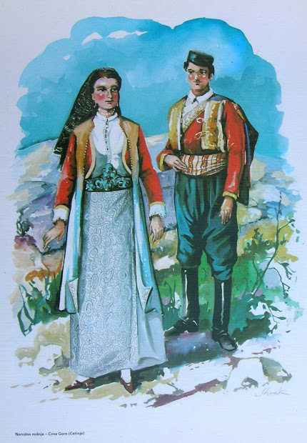 Folkcostume&embroidery Men' Costume Of Crna Gora
