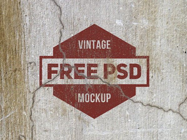 Download 2 Vintage PSD Mockup Free