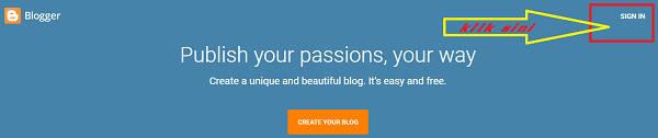 Cara Membuat Blog di Blogger Gratis Untuk Pemula