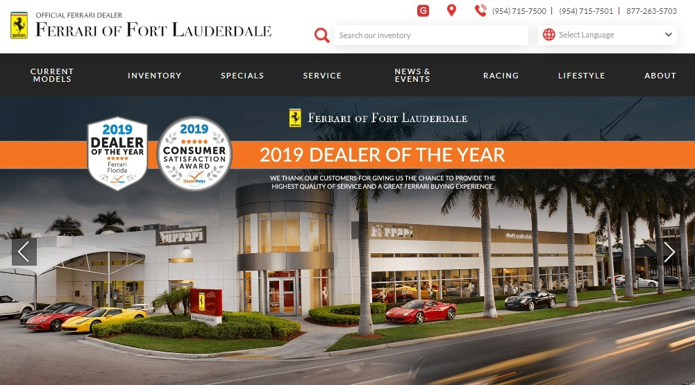 Ferrari Maserati of Fort Lauderdale, Used Car Dealer, Service Center