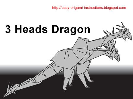 Origami Dragon Head Instructions - YouTube | 336x448
