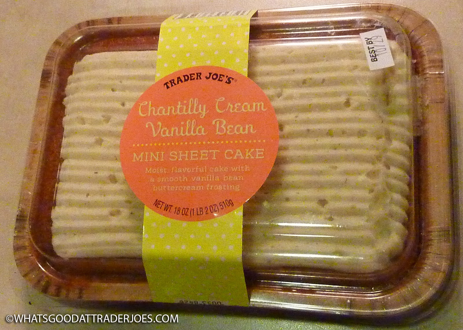 What S Good At Trader Joe S Trader Joe S Chantilly Cream Vanilla Bean Mini Sheet Cake