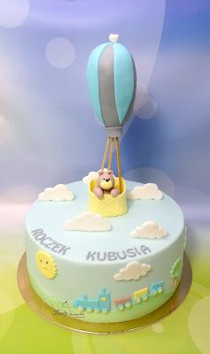 tort z balonem