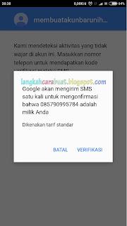 cara autentikasi akun google play store android