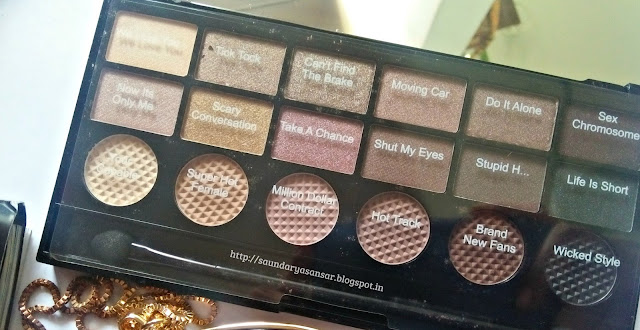 Makeup Revolution Eye Palette- What You Waiting For- Review, Swatches