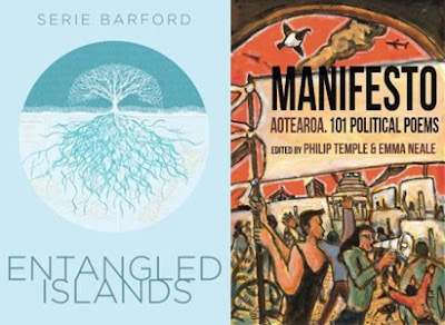 Books covers for Entangled Island and Manifesto Aotearoa
