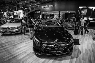 Mercedes Benz S Class at Qatar Motor Show 2017
