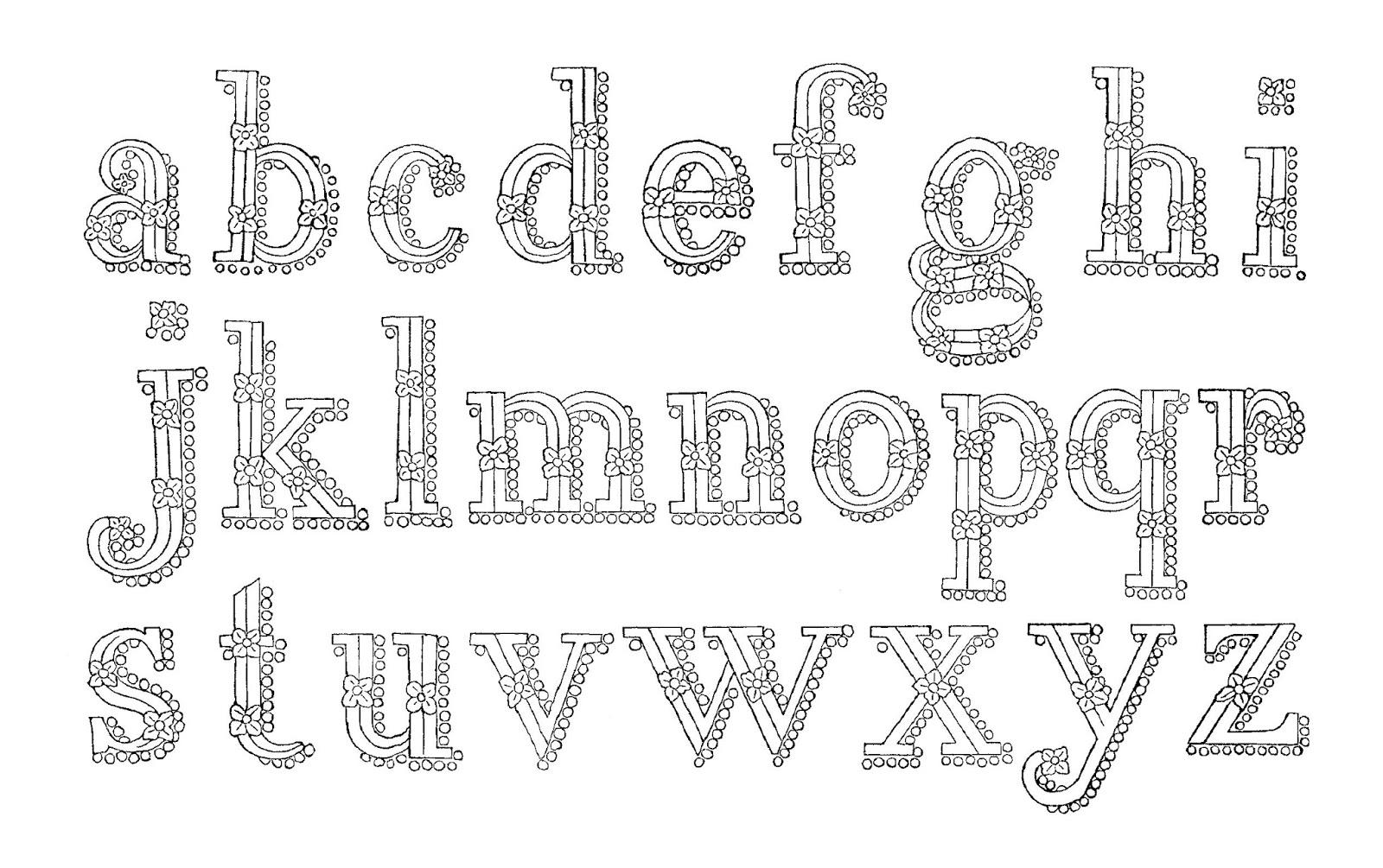 Digital Stamp Design Printable Alphabet Artwork Clip Art