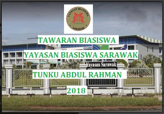 Biasiswa Yayasan Sarawak untuk pelajar yang berasal dari Sarawak