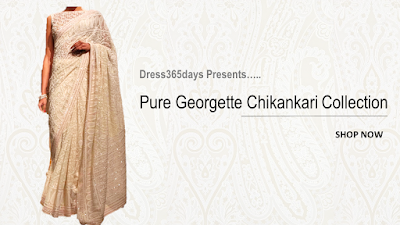 Pure Georgette Suit lengths Sarees