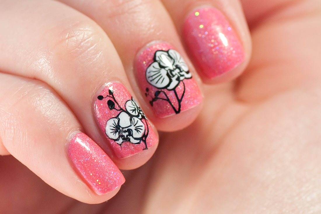Glam Polish True Loves Kiss Orchid Stamped Nail Art
