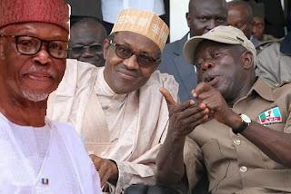 Oyegun, Buhari and Oshiomhole