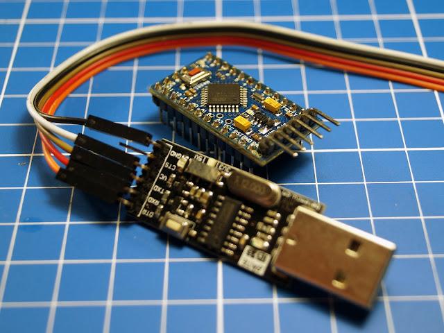 Arduino ProMini и преобразователь USB-UART