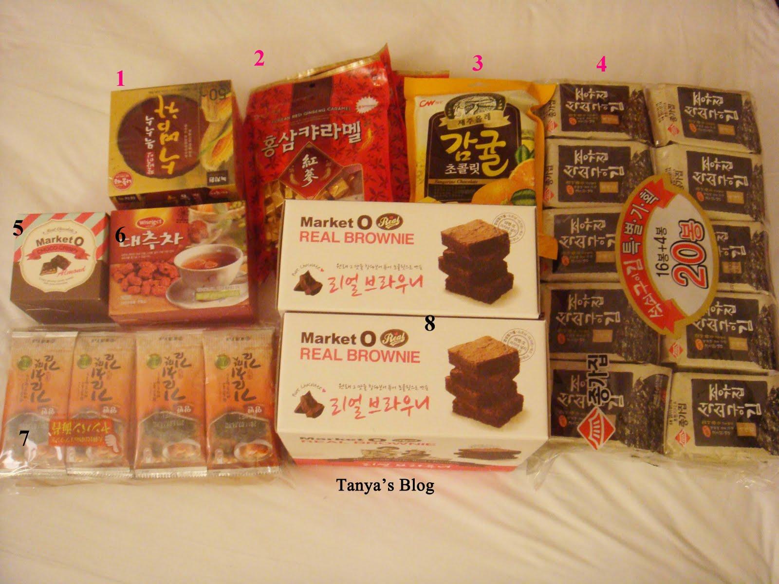 Tanya's Blog: 2011 韓國 首爾 自由自助行之樂天超市篇-零食