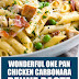 Wonderful One Pan Chicken Carbonara Penne Pasta