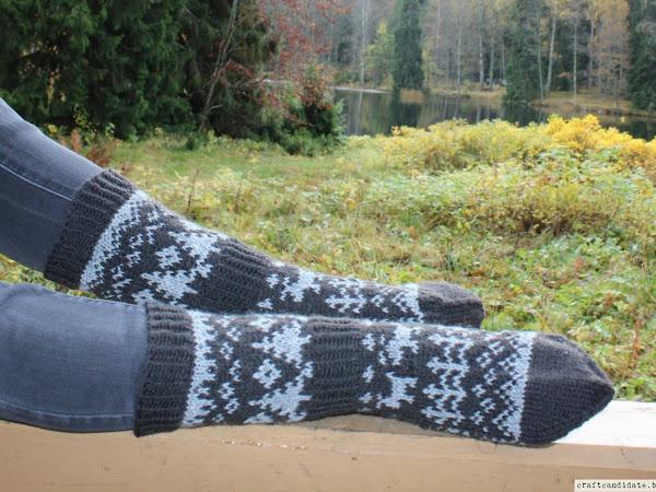 Metsäretki-sukat - A Trip into the Woods socks